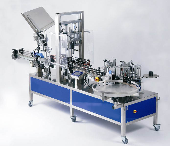 Vollautomatische Etikettiermaschine Kapselaufsetzer, Kapselschrumpfer Metallkapsel